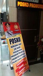 Alat peraga sosialisasi 100 hari program kerja Kapolri, Jendral Pol M. Tito karnavian (foto roni)