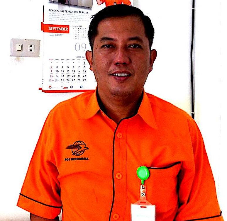 Muharmansyah, Kepala Kantor PT. Pos Indonesia (Persero) cabang Pangkalpinang.