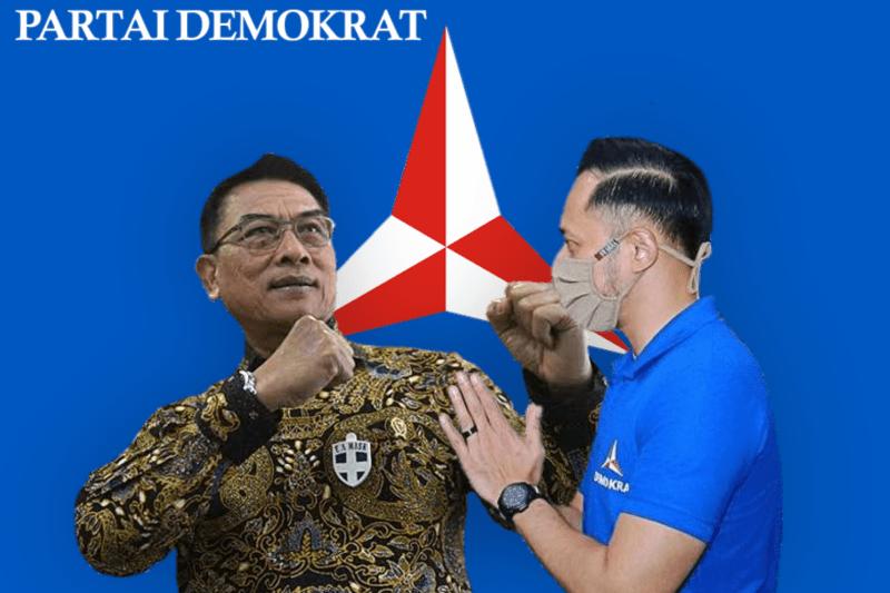KSP Moeldoko dan Agus Harimurti Yudhoyono. (Foto : Laspela)