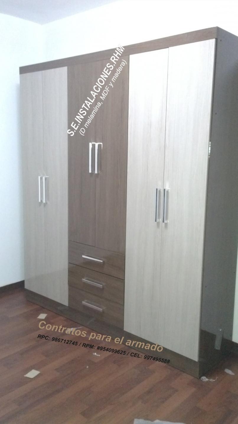 Armado de armarios de tottus  Negociope