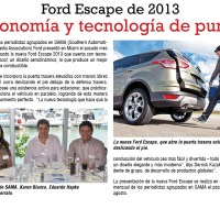 Ford Escape 2013, economía y tecnología de punta