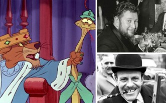 Two big stars – and big personalities – came together for 1973's Robin Hood. British acting heavyweight Peter Ustinov voiced the role of evil Prince John – the man, well, lion, occupying the throne while his brother King Richard (also voiced by Ustinov) was on a crusade. Known for playing cads and toffs, comic actor Terry-Thomas played Sir Hiss.