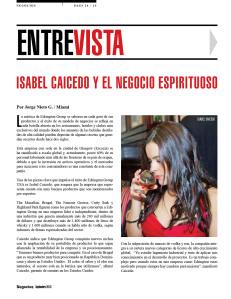 ISABEL CAICEDO Y EL NEGOCIO ESPIRITUOSO