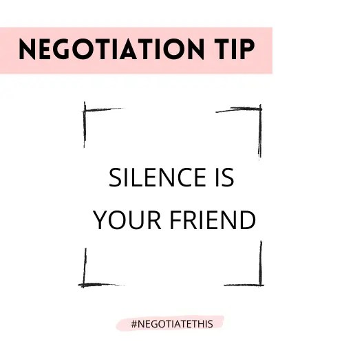 Negotiation tip: Silence is your friend