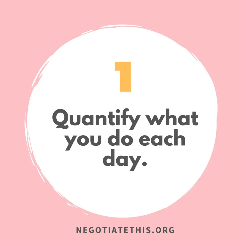 find the numbers: quantify what you do each day