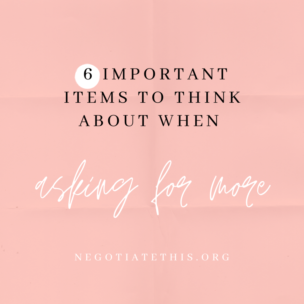 6 important items