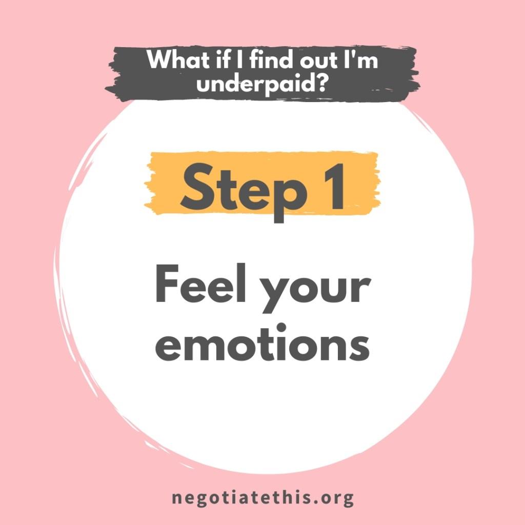step 1 - feel emotions