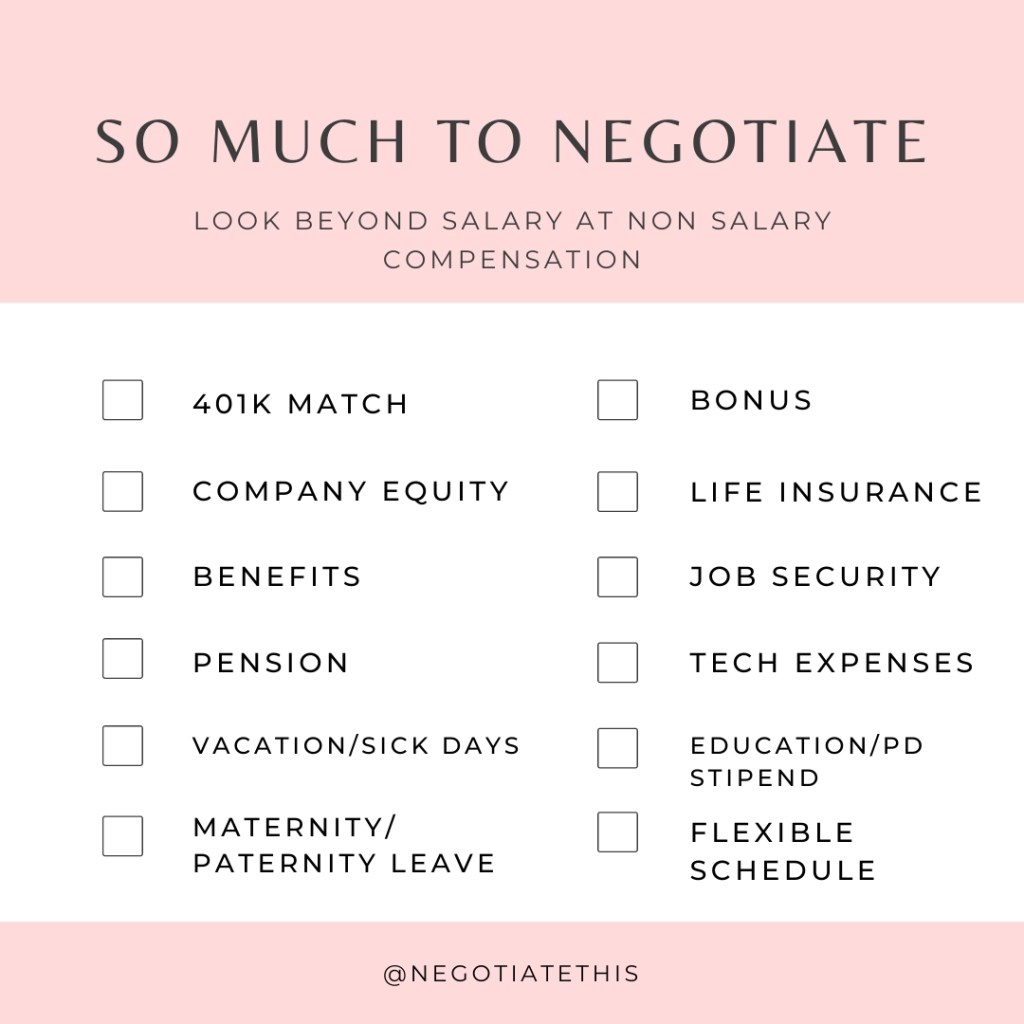 so much to negotiate