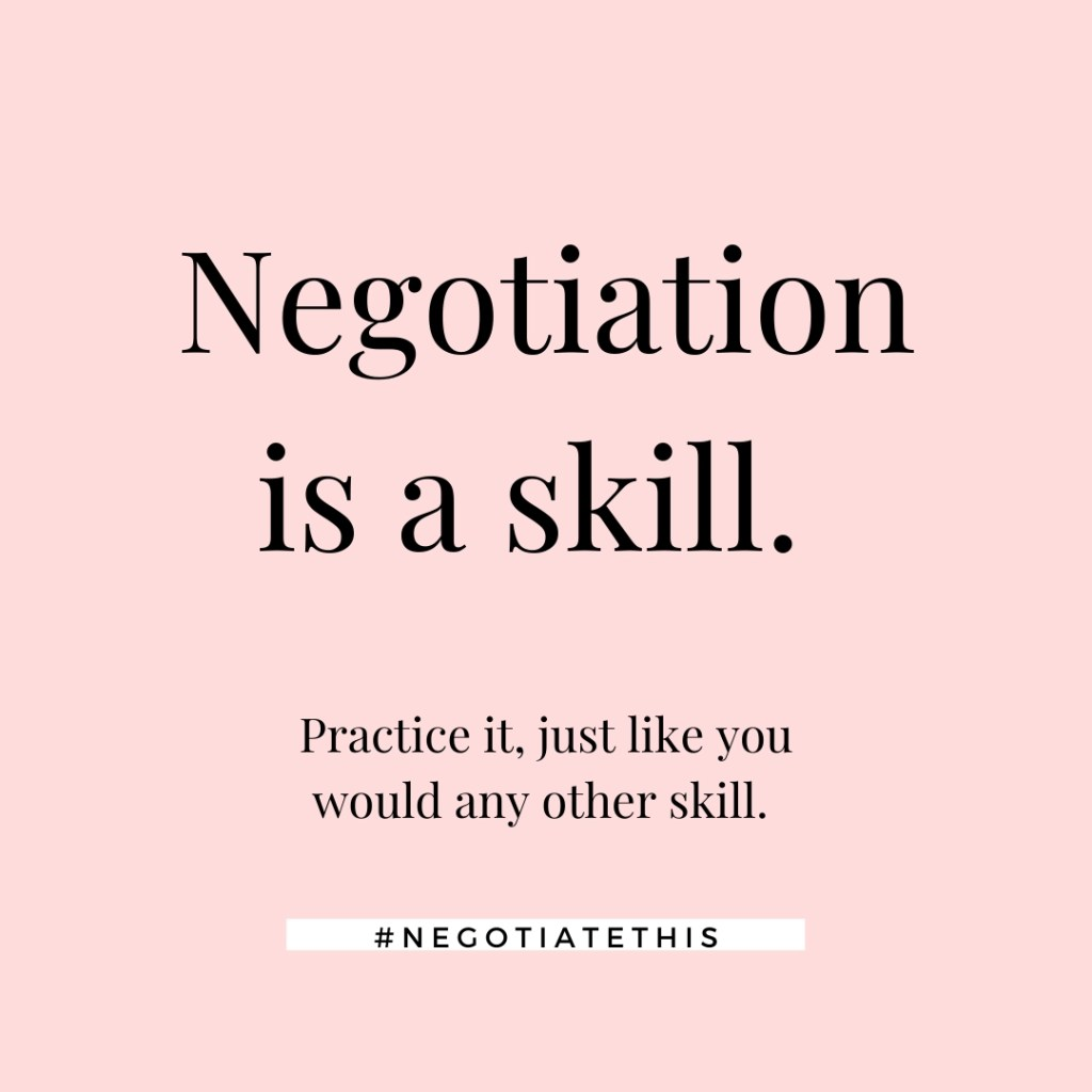 negotiation is a skill practice