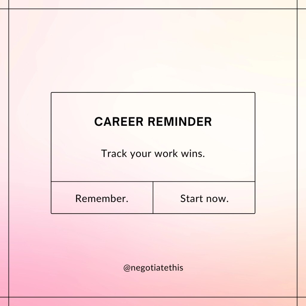 track your work wins