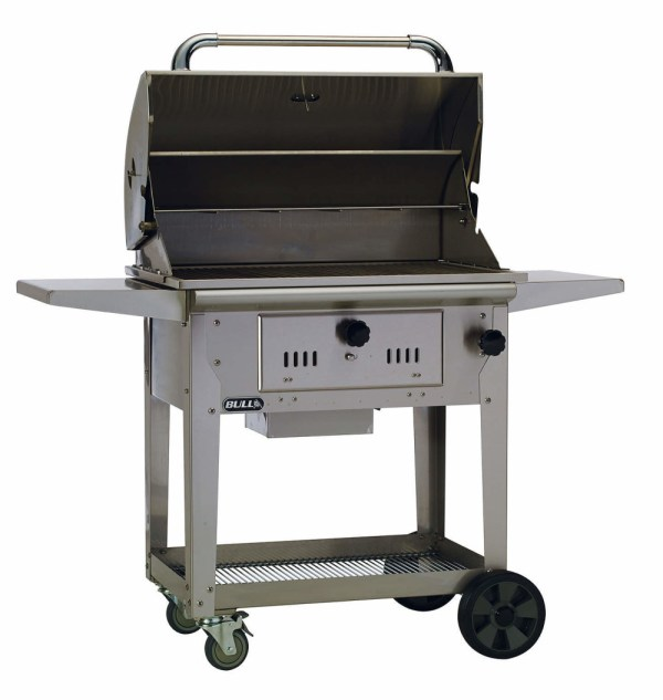 Bull Bison 30- Stainless Steel Charcoal Grill Cart - 67531 England And Hearth