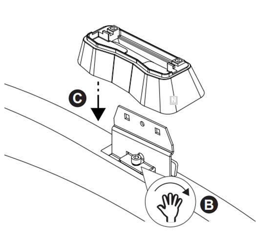 Barras de techo Mercedes GLC Coupé (puntos de fijación