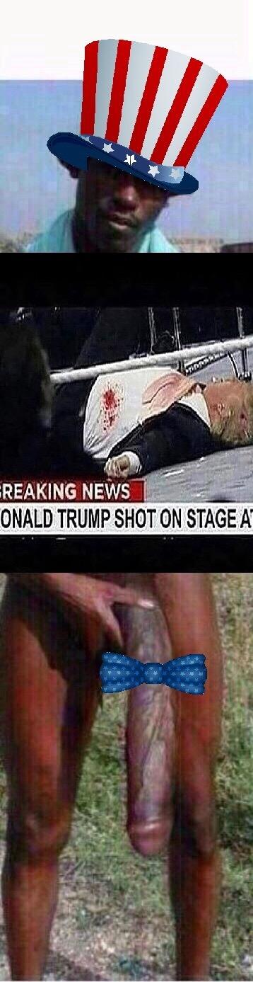 Trump disparado en la calle.. O el negro del whatsapp?