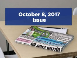 The Negros Chronicle Newspaper October 8, 2017 Issue