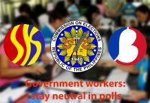 Government workers: stay neutral in polls