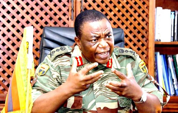 """General Constantine Chiwenga (pictured) was described as a """"political general"""" with """"little practical military experience or expertise"""" by Major-General Fidelis Satuku and Brigadier-General Herbert Chingono. (Picture by ZimDaily.com)"""