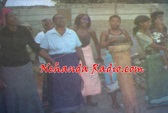 Mourners at Zadzi funeral