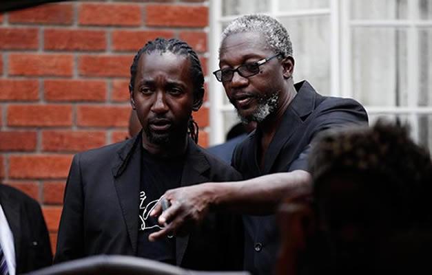 Leo Mugabe (right) seen here with Patrick Zhuwao