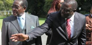 President Robert Mugabe and Morgan Tsvangirai (Photo/Tsvangirayi Mukwazhi)