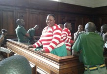One of the jailed activists Yvonne Musarurwa immediately after the sentencing.