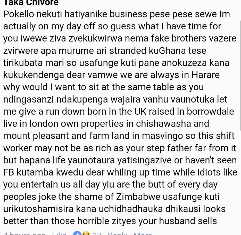 Tazvi Mhaka defends