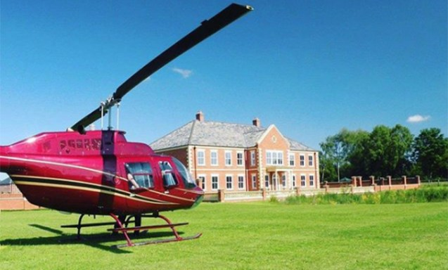 Helicopter parked outside Prophet Uebert Angel mansion