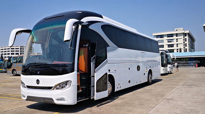 BEAUTIFUL MONSTER . . . This is the first image of the luxury CAPS United team bus, which was bought by the club's former striker Nyasha Mushekwi, after it rolled out of the assembly line in China and it is now set to be branded in South Africa before being delivered at the end of next month