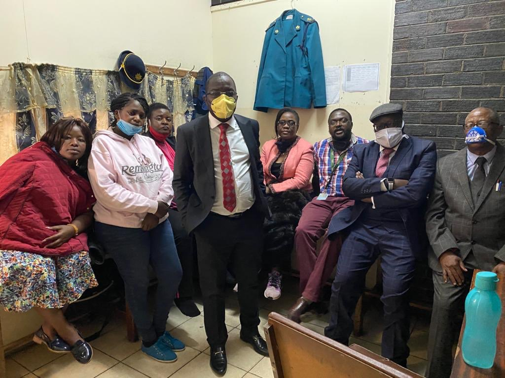 "Lawyers representing arrested MDC Alliance officials say their clients have been charged with ""criminal nuisance"" because they were singing, moving and blocking the road."