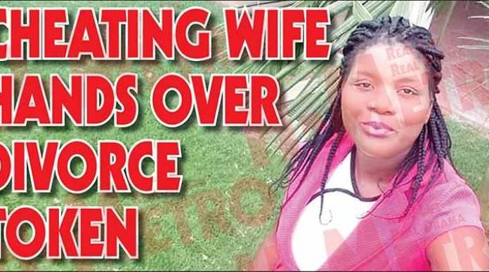 Cheating wife hands over divorce token