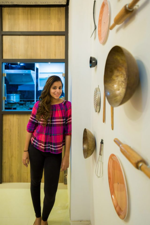 Sanjali Naik at one of her designed spaces