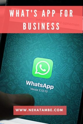 How to use What's app for business