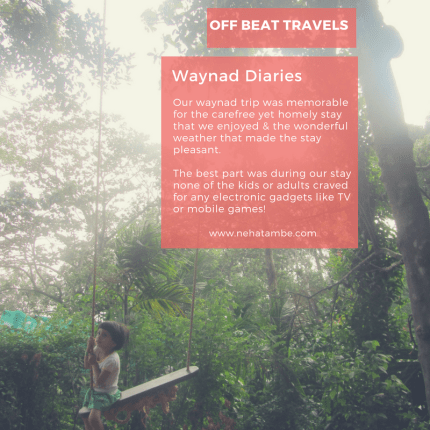 Waynad is a hill station in kerala that offers amazing vistas and great home stay experiences for children