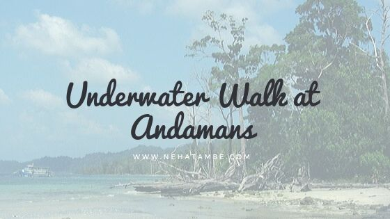 underwater walk in Andamans an experience