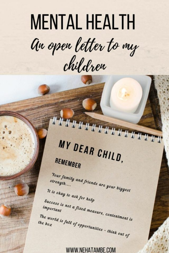 Mental health - An open letter to my children