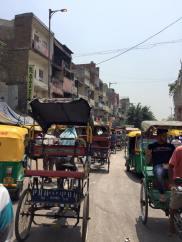Our view while riding within rickshaws