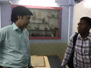Meeting the head facilitator of Salaam Balaak Trust