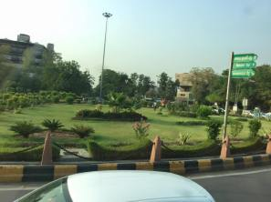 Passing a park on the way to the heart of Delhi