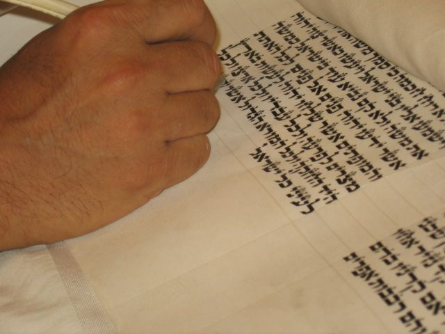writing the letters of the Sefer Torah