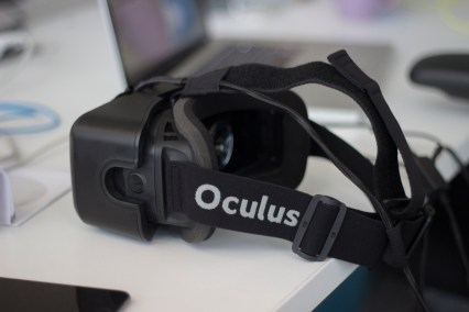 This virtual reality viewer is developed by Oculus. (Photo by Jumayar Ahmed)