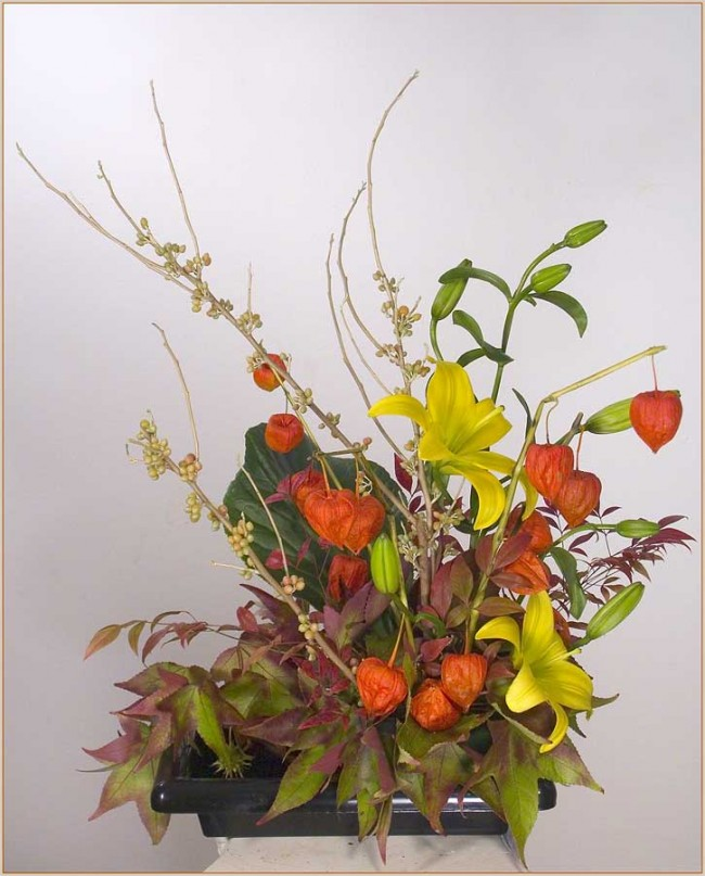 Chinese Lantern Floral Arrangements