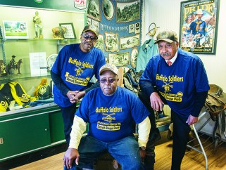 Buffalo Soldier members Vern Smith of Southfield, Stathen Townsend and and James Mills, both of Detroit