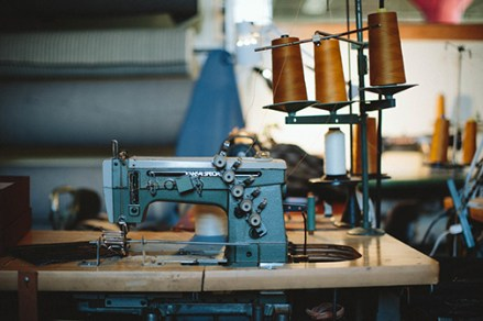 Detroit Denim authentic American jeans are handcrafted using select vintage sewing machines.