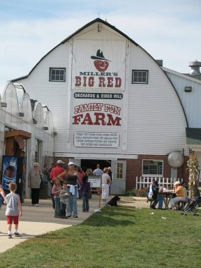 Millers' Big Red Cider Mill.