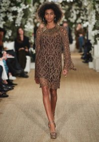 Ralph Lauren 2017 Tabacco Crochet Dress