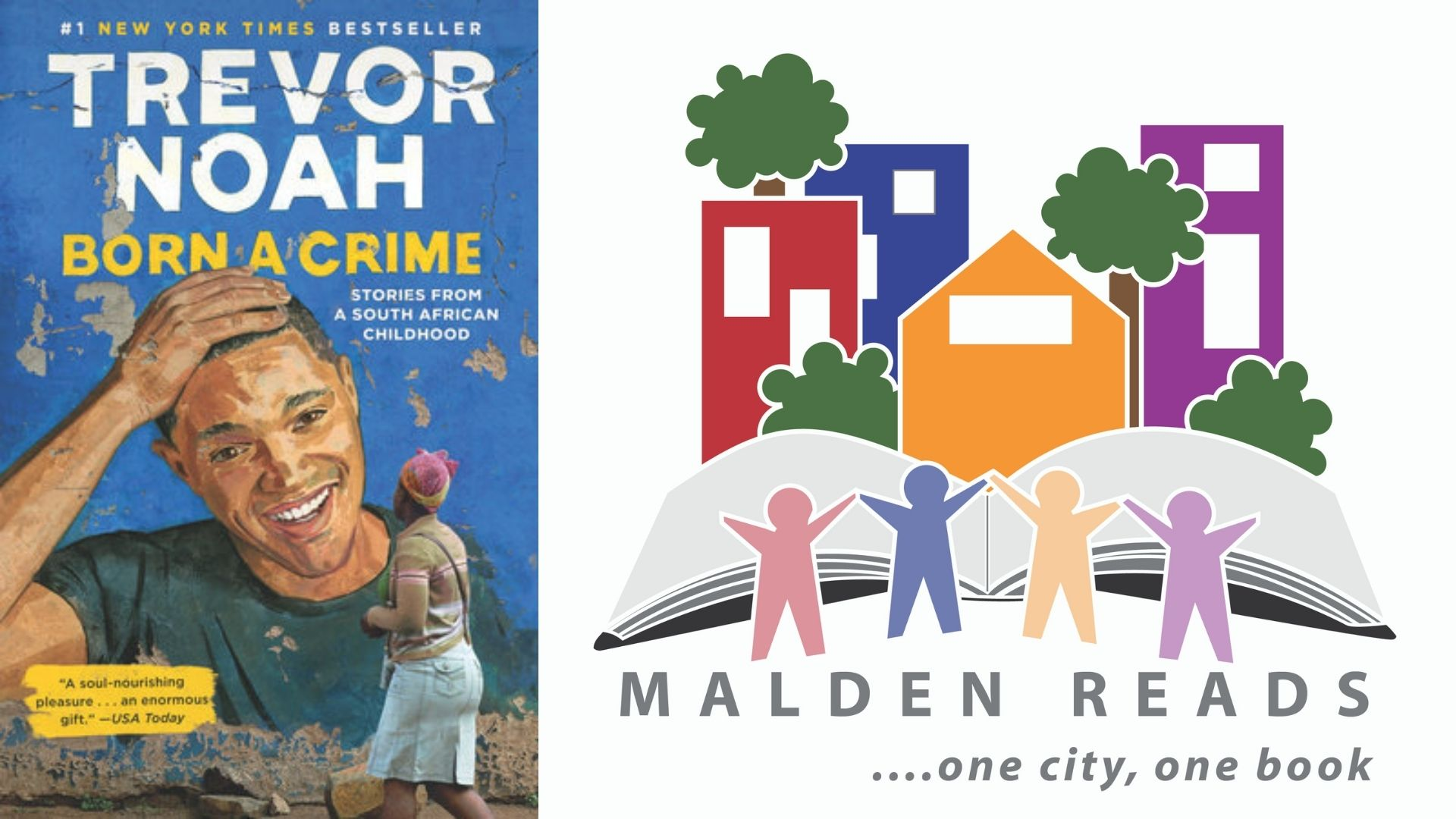 "Malden Reads Selects Trevor Noah's ""Born a Crime"" for 11th Year Book"