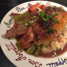 Roasted Chicken with Pears and Red Wine Sauce