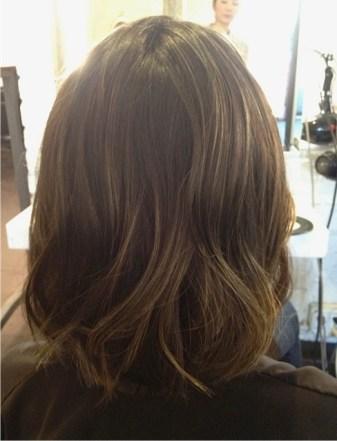 brunette with caramel highlights