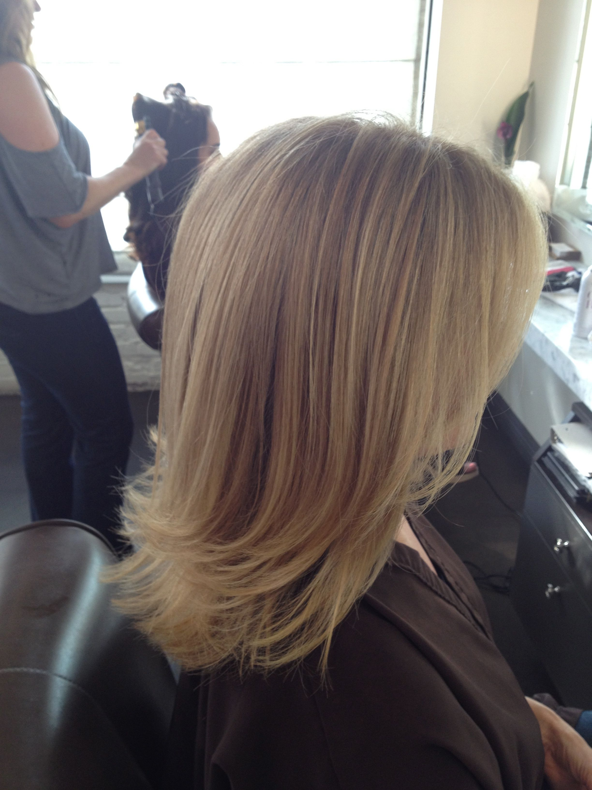 Before And After Cool Blonde Chic Cut