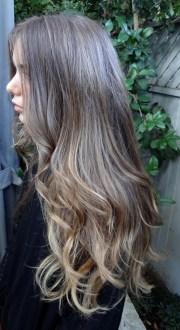 medium brunette with golden highlights