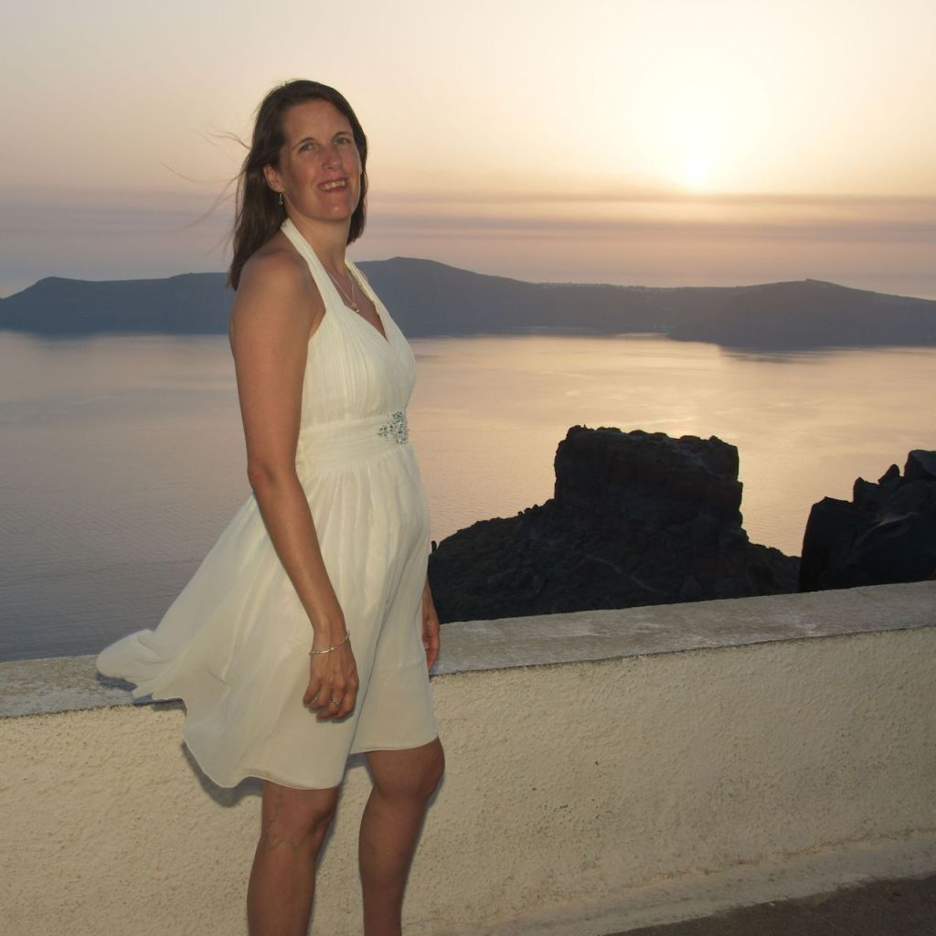 post wedding photography destination santorini greece sunset